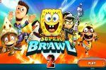 Губка Боб игра файтинг героев мультфильмов (Super Brawl 2)