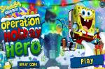 Спанч Боб игра Секретная Операция (Operation Holiday Hero SpongeBob game)