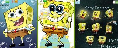 Спанч Боб (Sponged Bob) темы для телефона скачать бесплатно